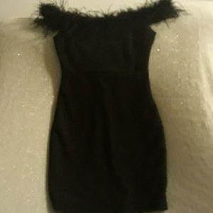 Mini black cocktail dress
